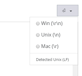 EOL selector in Files > File Manager > Edit File