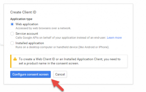 Prompt to create product ID on Consent screen